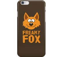 Funny cute Freaky Fox iPhone Case/Skin