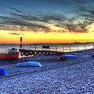 Branscombe Beach & boats by Rob Hawkins