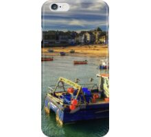St Ives beach at dusk iPhone Case/Skin