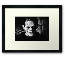 THE MONSTER of FRANKENSTEIN Framed Print