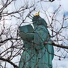 Lady Liberty Through Branches by VanillaDolphin