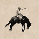Bronco Busting Rodeo Cowboy by NaturePrints