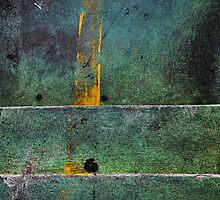 Green and yellow overpass abstract from Bangkok by Pekka Nikrus