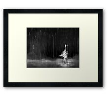 ... as the rain fell on me Framed Print