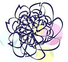 Scribble Pastel Flower Doodle by ehc92