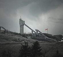 Olympic Ski Jumps- Calgary, Alberta Canada   by Dyle Warren