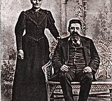 GG grandparents, circa 1880 Martinsville, Indiana by Samohsong