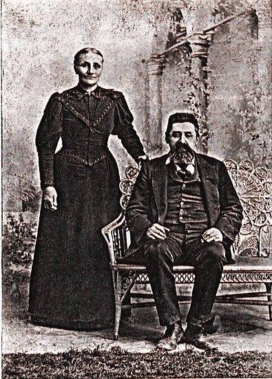 GG grandparents, circa 1880 Martinsville, Indiana by Samohsong