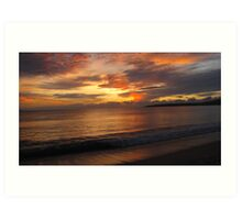 Sunset over Mexico Art Print