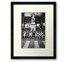 Engaged Women, Silent Men Framed Print