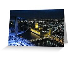 View of Westminster at night from the London Eye Greeting Card