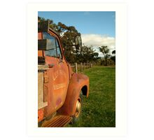 Bedford Truck, Brisbane Ranges Art Print