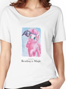 Reading is Magic: Pinkie Pie Women's Relaxed Fit T-Shirt