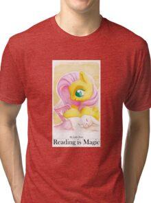 Reading is Magic: Fluttershy Tri-blend T-Shirt