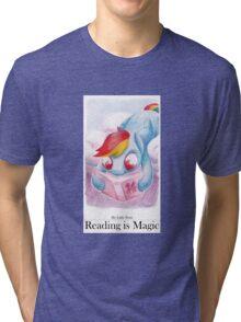 Reading is Magic: Radinbow Dash Tri-blend T-Shirt
