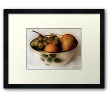 Fruitbowl Retro Framed Print