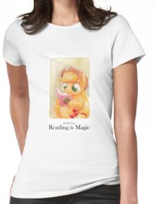 Reading is Magic: Applejack Womens Fitted T-Shirt