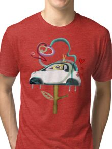 Low CO2 emission ecology driving fun smart shirt Tri-blend T-Shirt