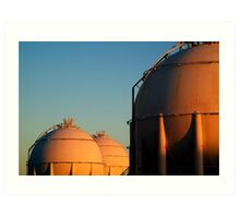 Industrail, Fuel Storage Tanks,Geelong Art Print