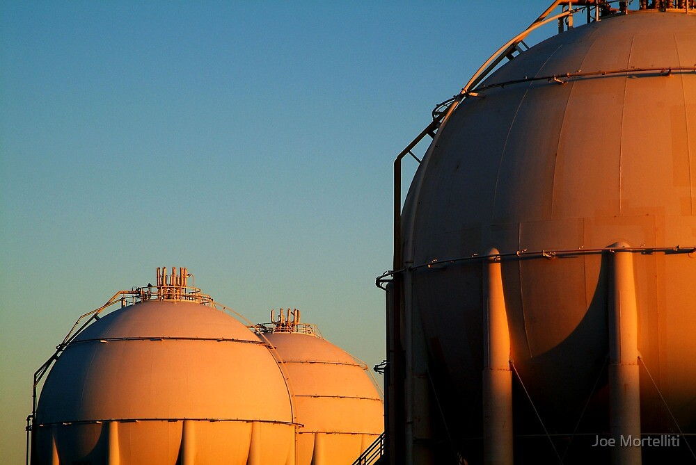 Industrail, Fuel Storage Tanks,Geelong by Joe Mortelliti