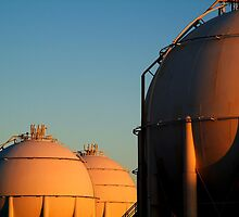 Industrail, Fuel Storage Tanks,Geelong by Joe Mortelliti