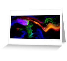 Spreading Gaseous Clouds Greeting Card