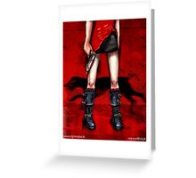 Red Dress & Zombie Dog Greeting Card
