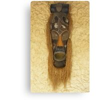 Wooden African Tribal Mask Canvas Print
