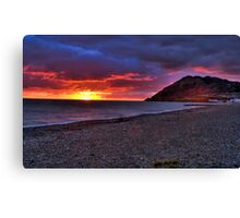 Sunrise in Bray, Co. Wicklow Canvas Print