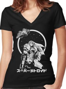 Interstellar Bounty Hunter Women's Fitted V-Neck T-Shirt