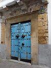 Blue Door in the Souks of Tunis by Lucinda Walter