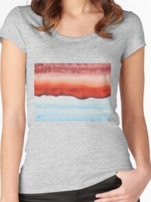 Northern Exposure original painting Women's Fitted Scoop T-Shirt