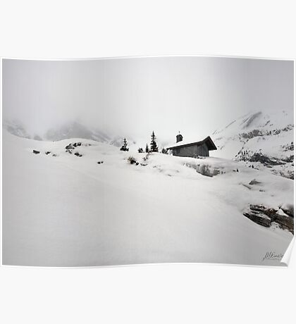 Little chapel in the snow Poster