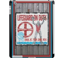 The Lifeguard Creature Is On Duty (1) iPad Case/Skin