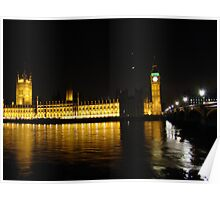 Parliament and Big Ben over the Thames Poster