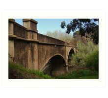 Fyansford Bridge,Geelong Art Print