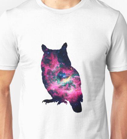 Galaxy in an Owl Unisex T-Shirt