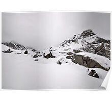 Cold mountainous landscape Poster