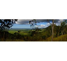Looking towards Townsville from Pipers Lookout - Hervey Range Photographic Print