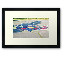 The United States of Blacktop Framed Print