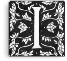 "Art Nouveau ""I"" (William Morris inspired) Canvas Print"