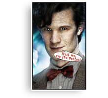 Comic Doctor Who Canvas Print