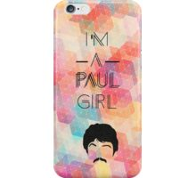 """""""I'm a Paul girl"""" Beatles design iPhone Case/Skin"""