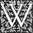 """Art Nouveau """"W"""" (William Morris inspired) by Donna Huntriss"""