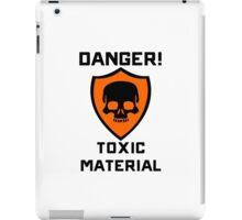 Warning - Danger Toxic Material iPad Case/Skin