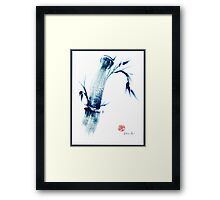 MEDITATE - Zen wash painting Framed Print