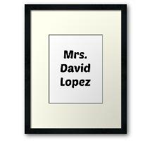 Mrs. David Lopez Framed Print
