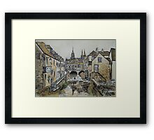 Bayeux (in coffee) Framed Print