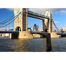 Tower Bridge and Gherkin London UK Photographic Print