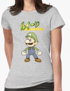 Super Smash Bros 64 Japan Luigi Womens Fitted T-Shirt